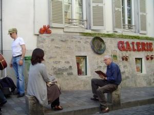 Sidewalk artist, Montmartre, Paris.