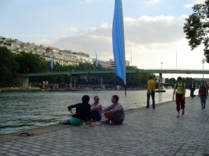 Summer day, Canal St. Martin, Paris